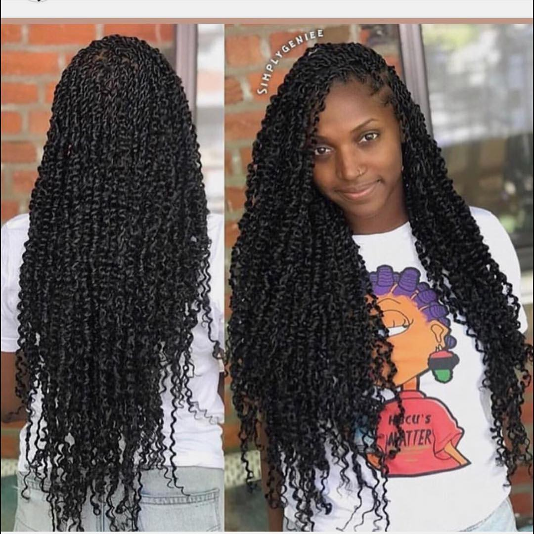 Passion twists hair