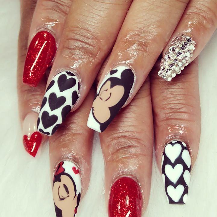 short coffin nail designs