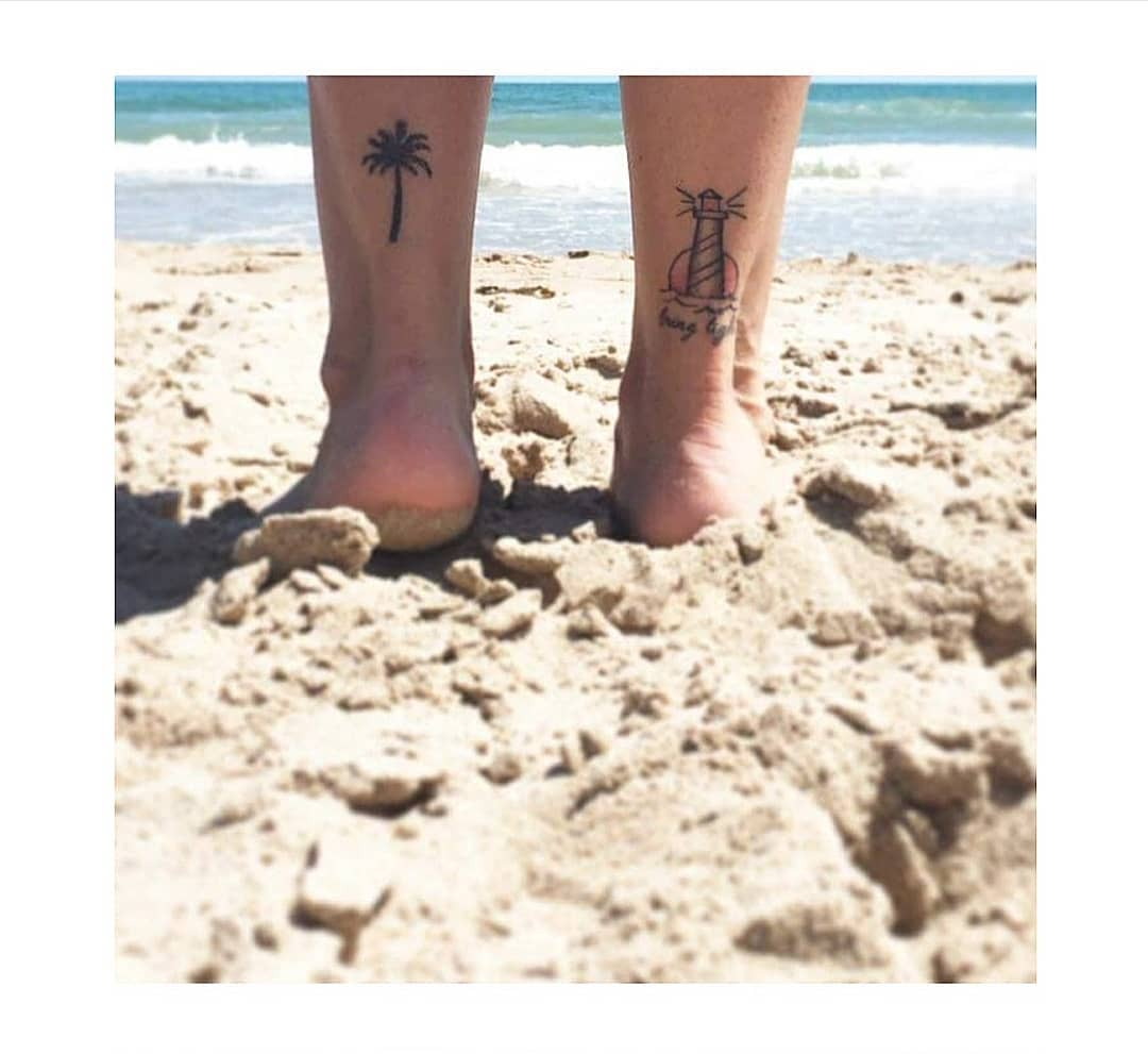 Lighthouse Heel Tattoo