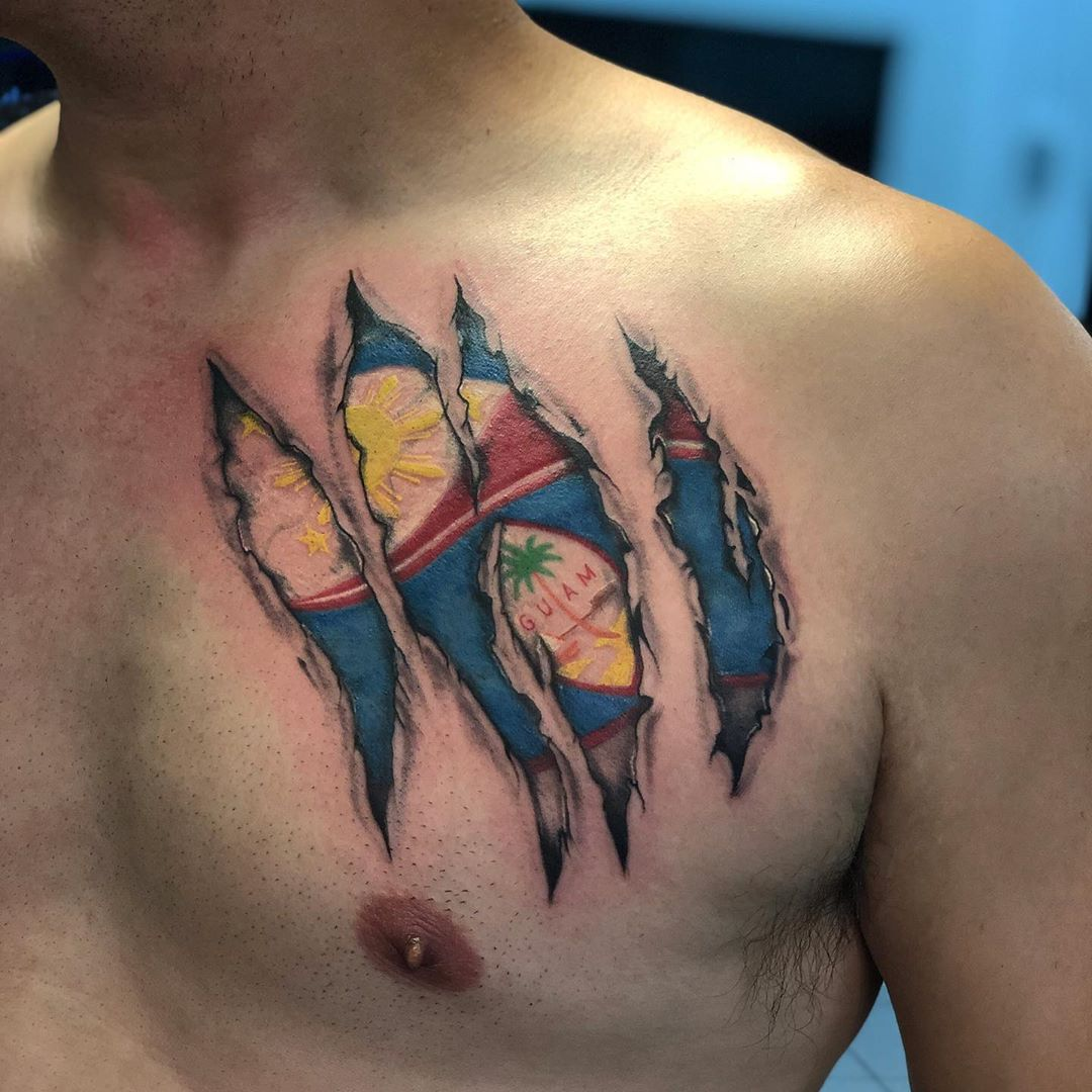 Filipino Flag Tattoos