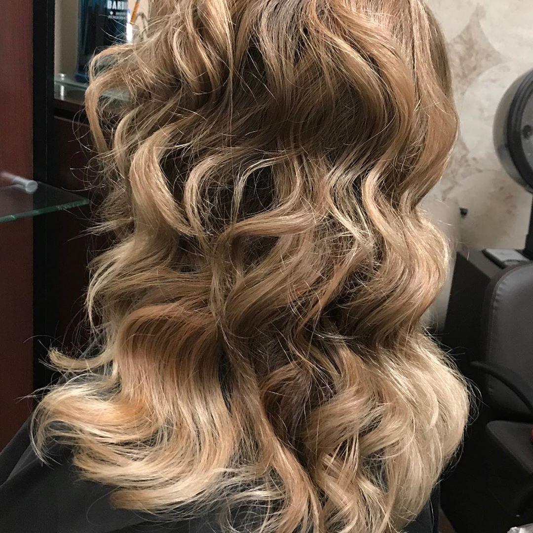 Chestnut blonde hair with lowlights