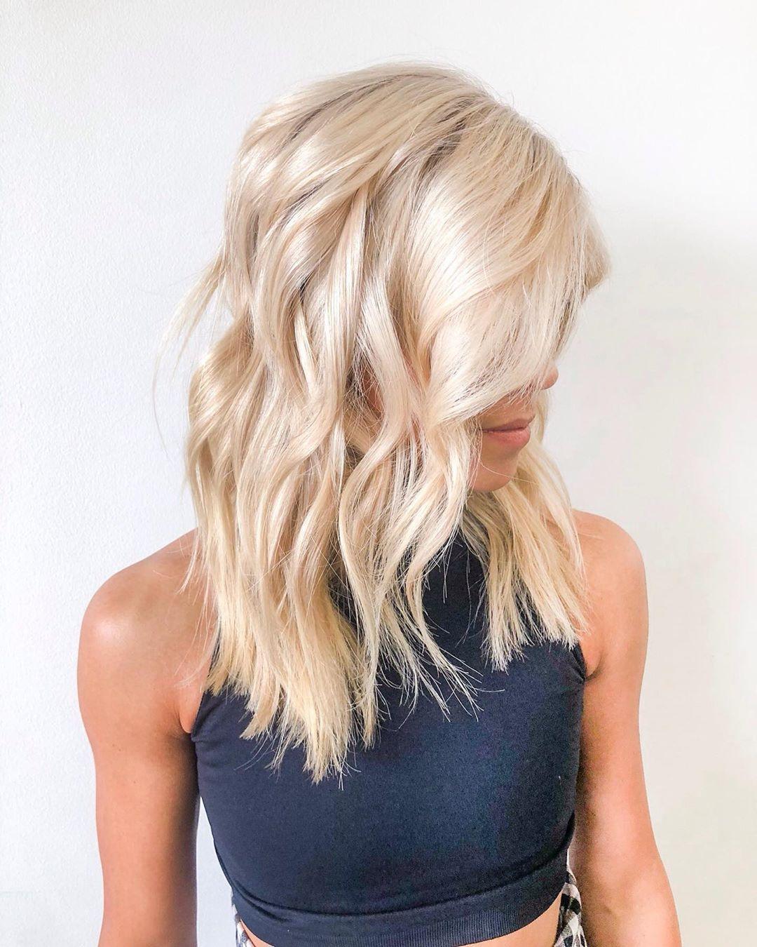 Brown lowlights on golden blonde hair