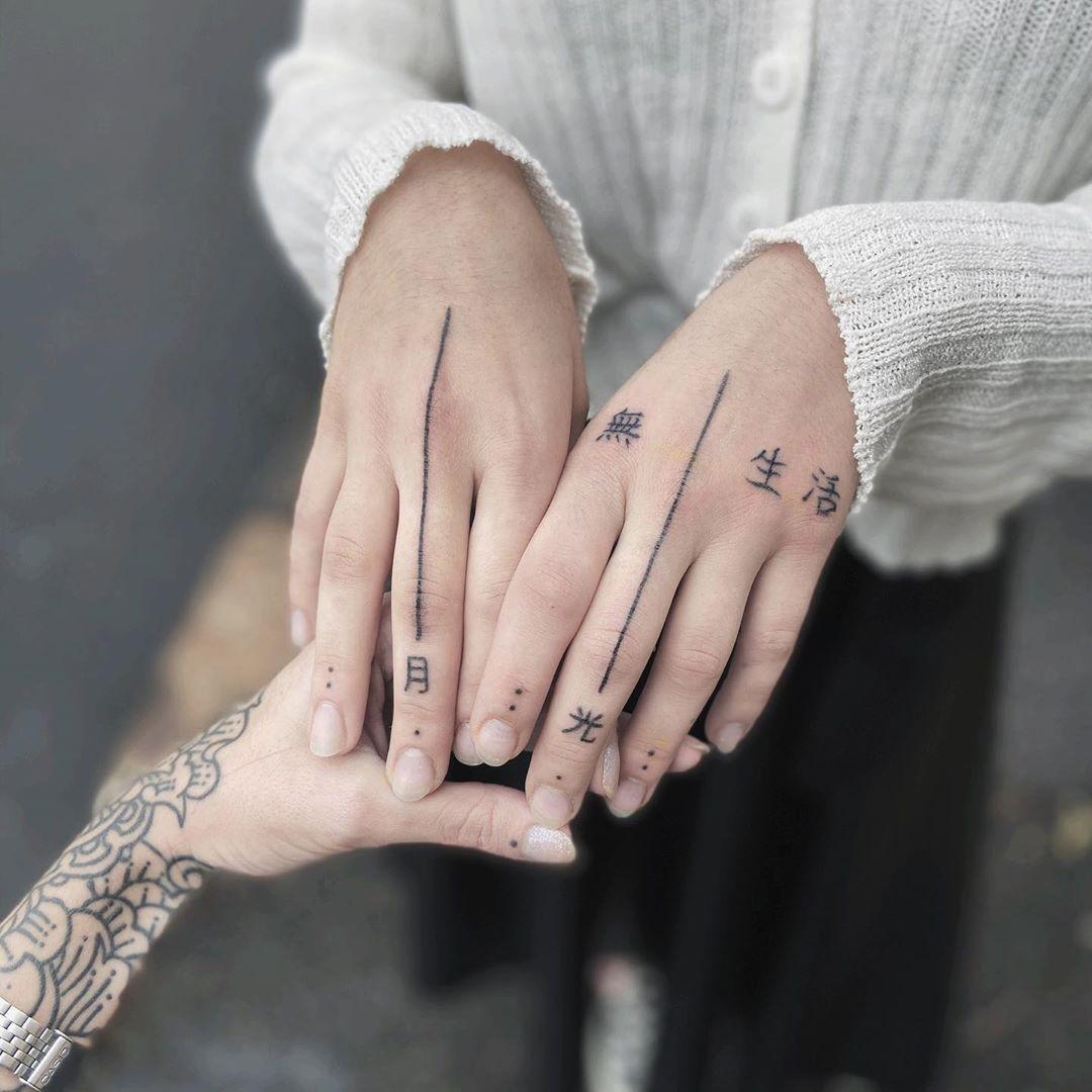 Japanese Kanji Hand Tattoo