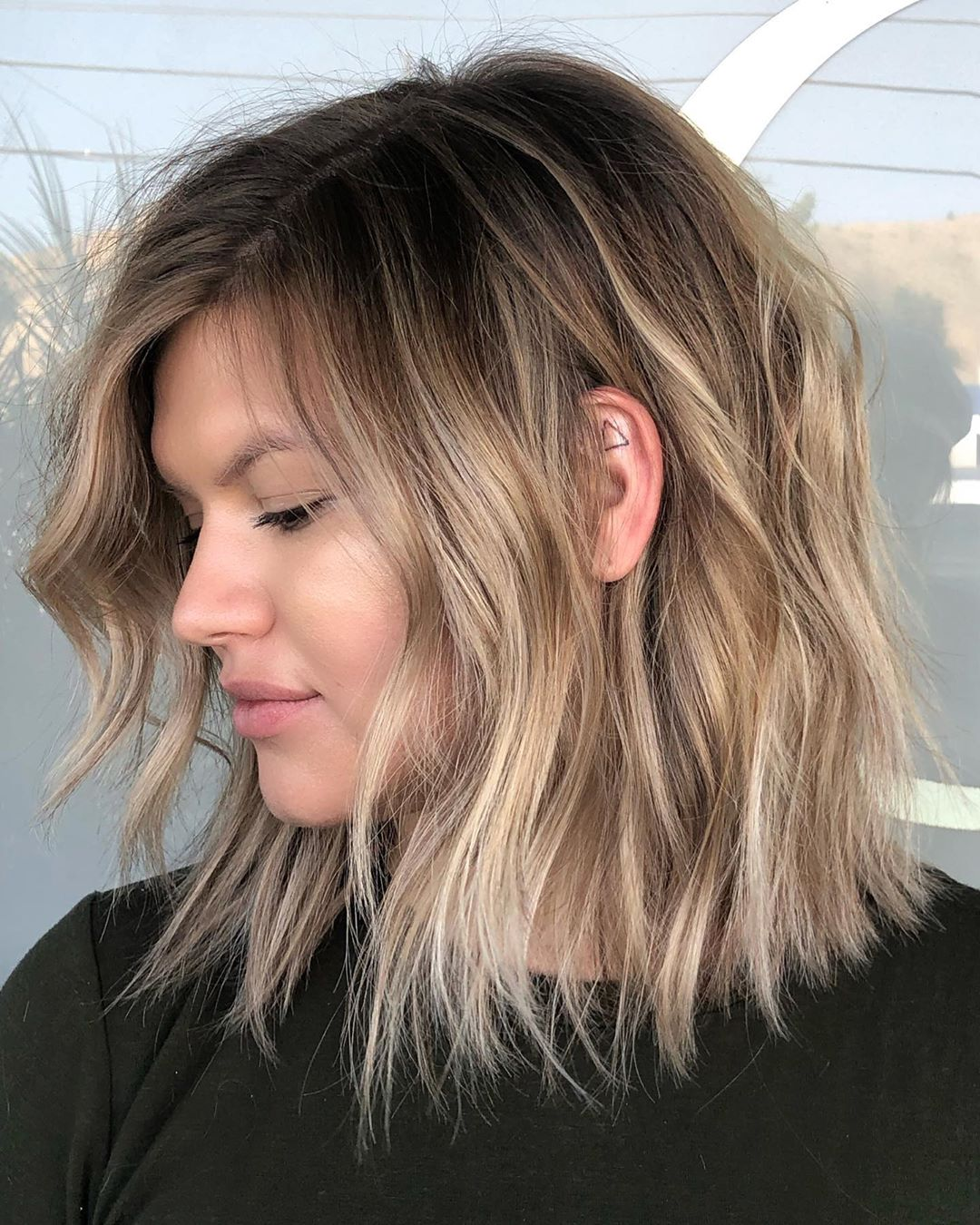 Brown Lowlights with Dark Roots