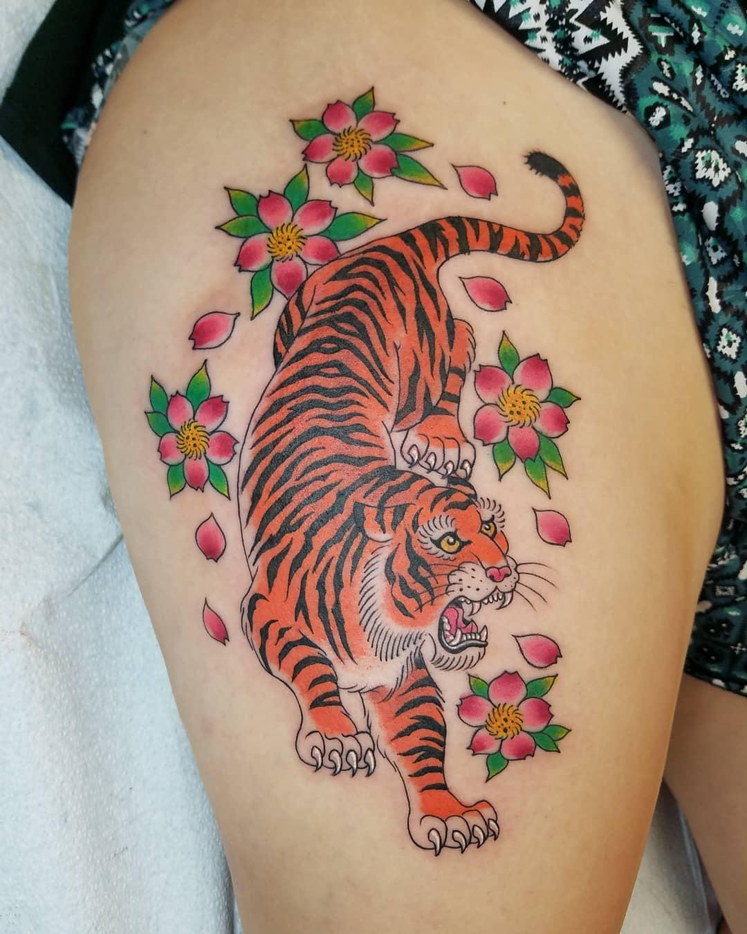 Inspiring Japanese Tiger Tattoo Designs