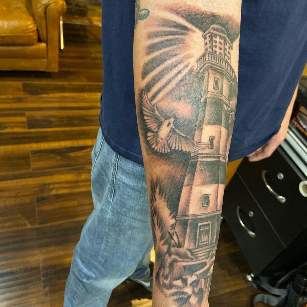 Lighthouse Religious Tattoo
