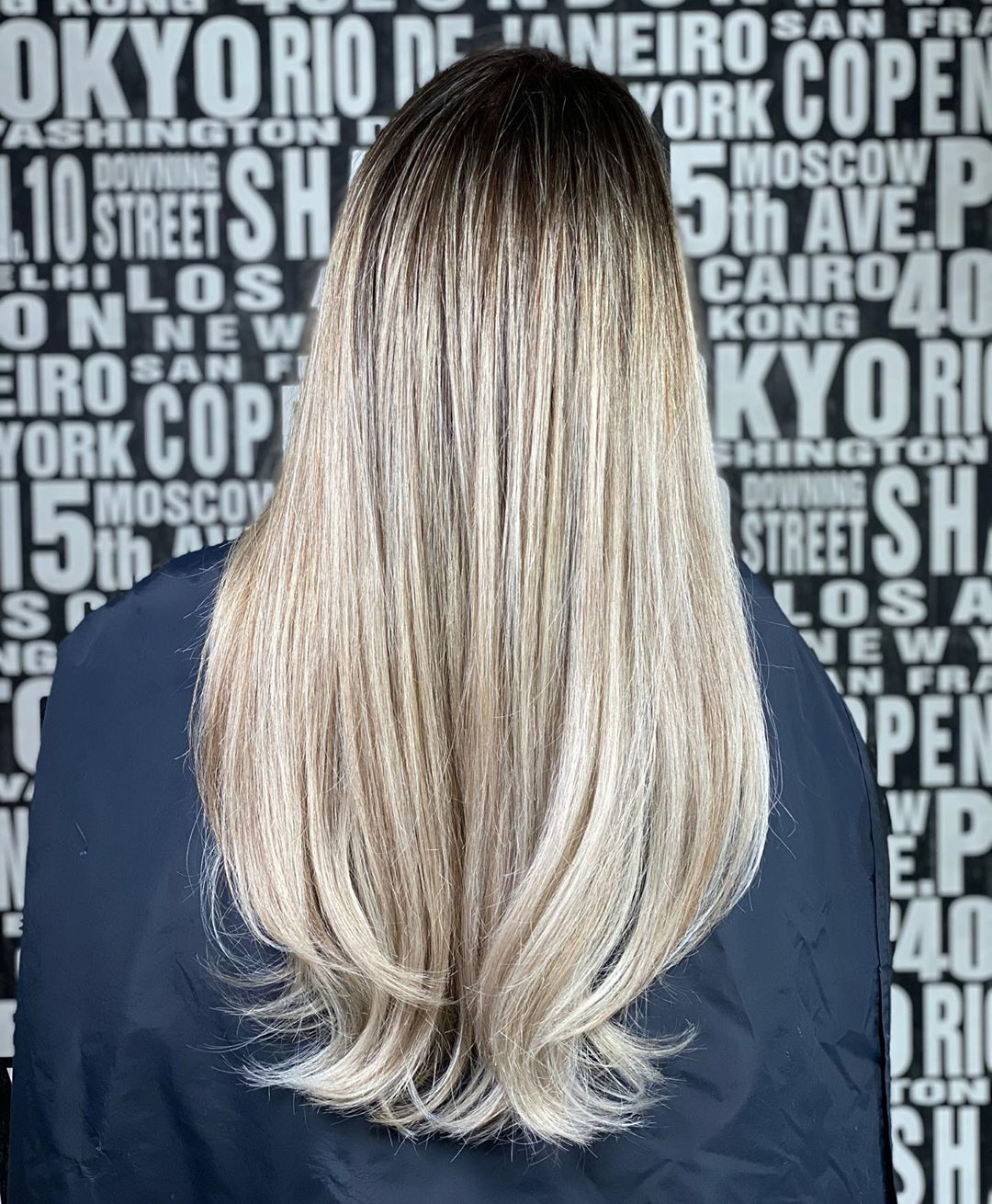 Blonde with lowlights hairstyle