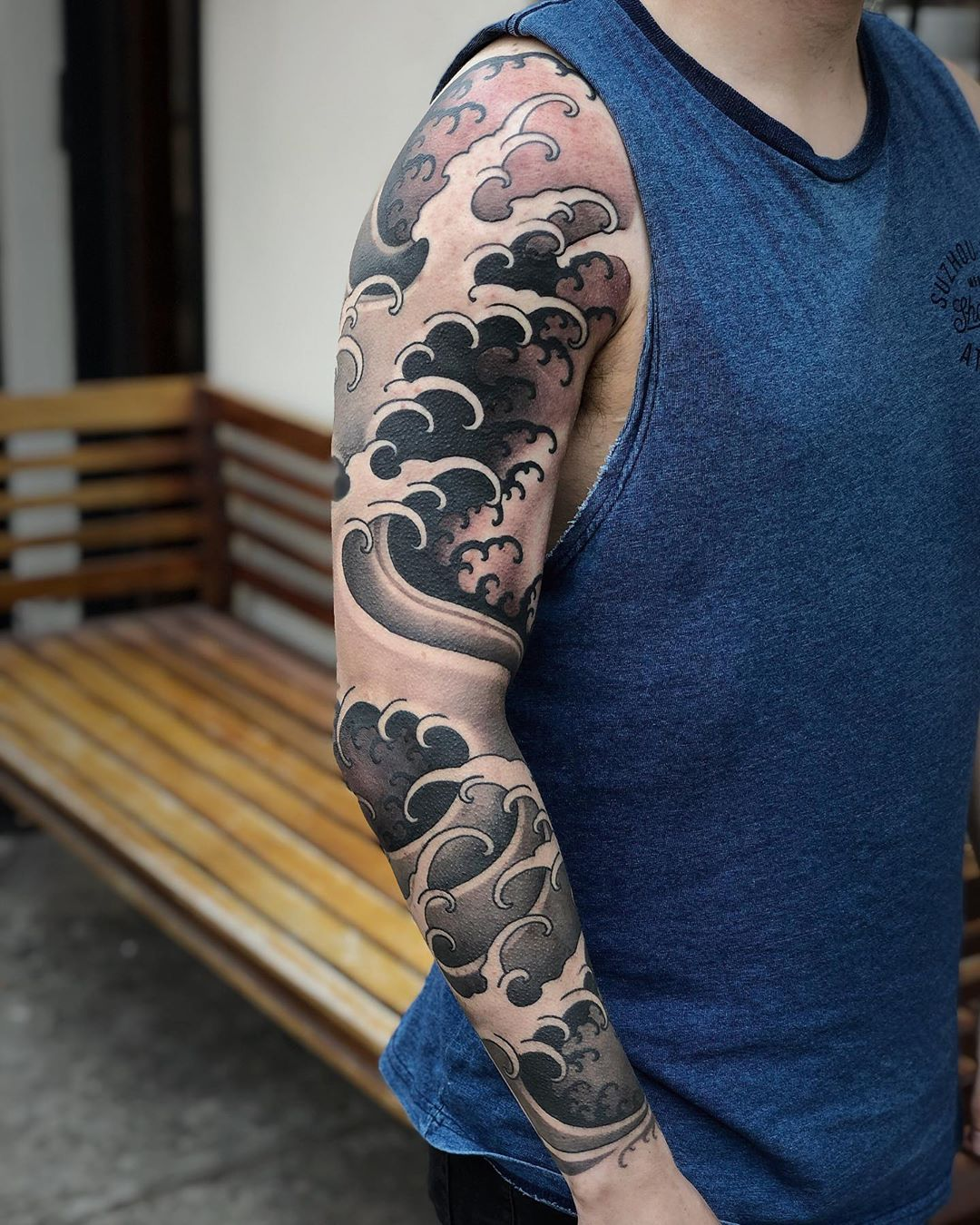 Japanese Wave Tattoo Sleeve
