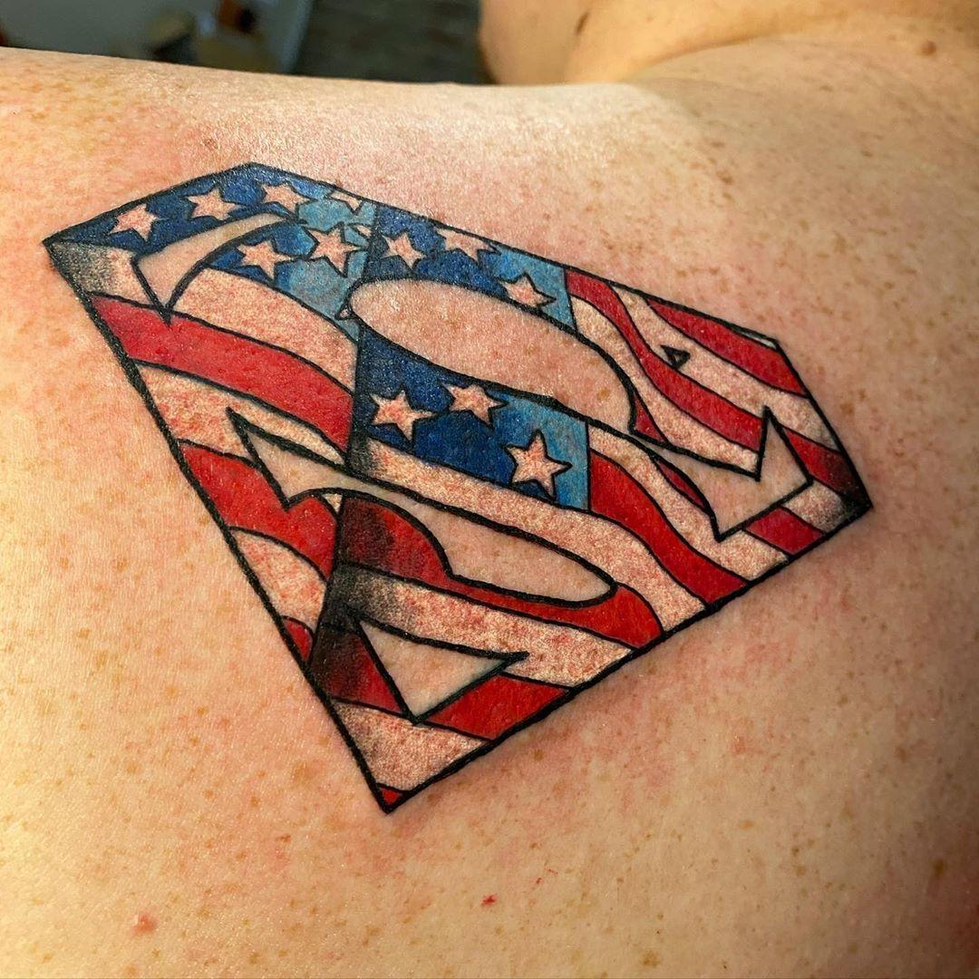 Superman Tattoo Art