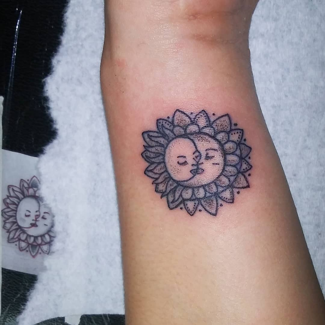Best Sun and Moon Tattoos