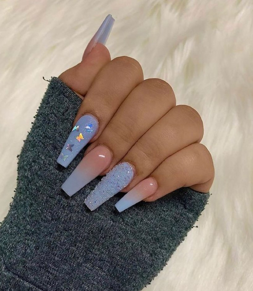 Micro beads on coffin nail designs