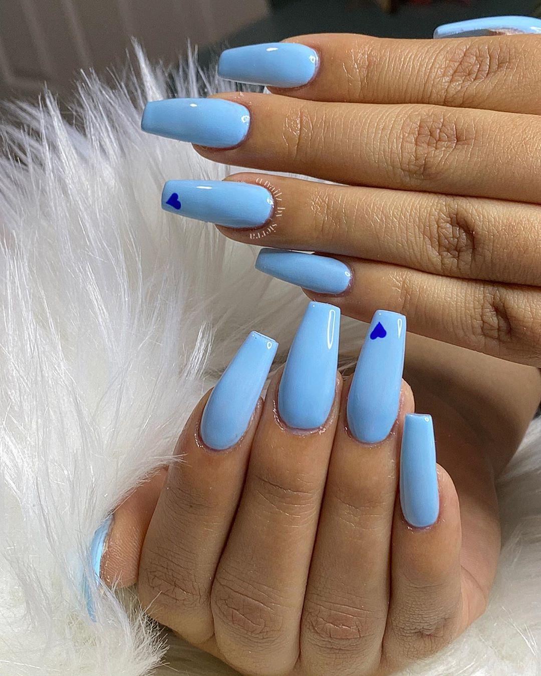 Light blue coffin nail designs