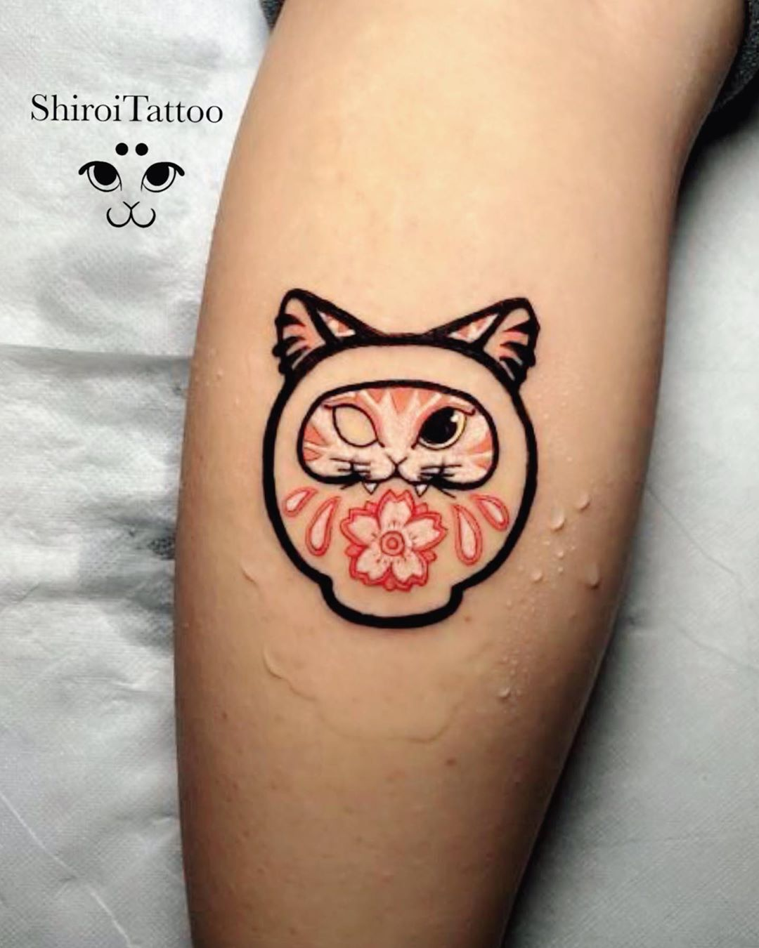 Japanese Cat Tattoo