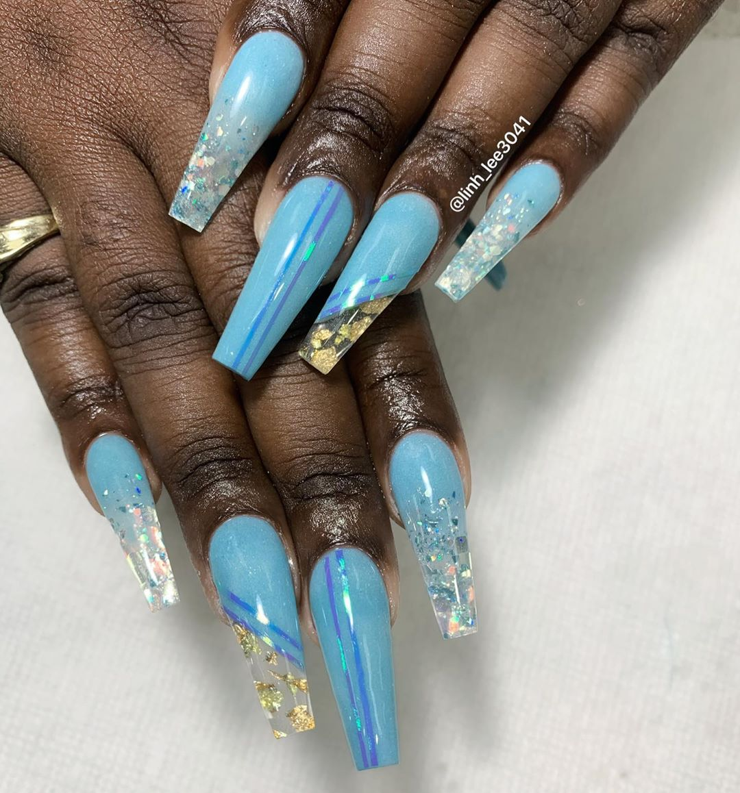 Updated 55 Blissful Baby Blue Acrylic Nails August 2020