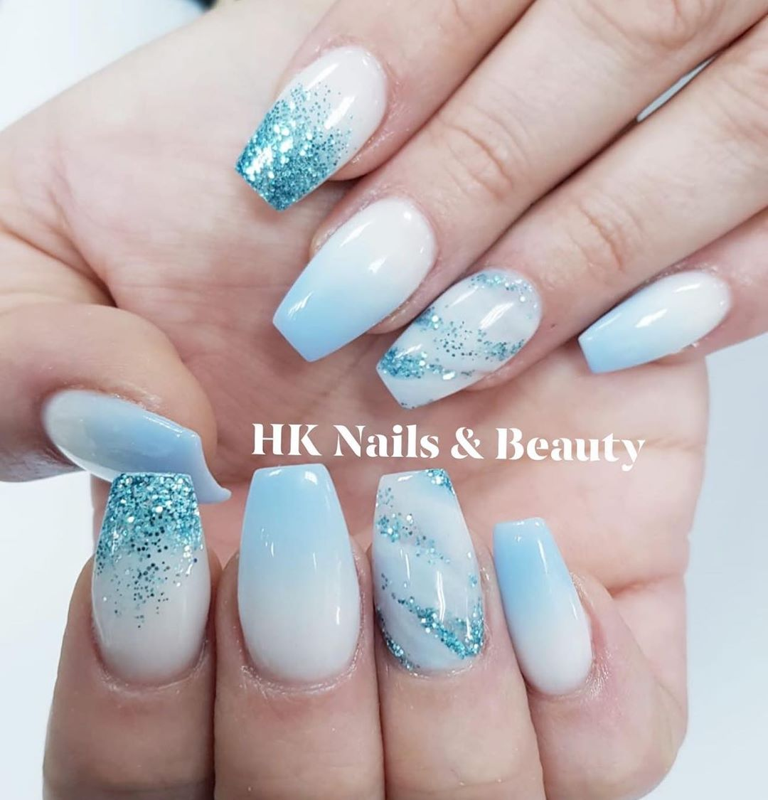 Updated 30 Blue Ombre Nails August 2020