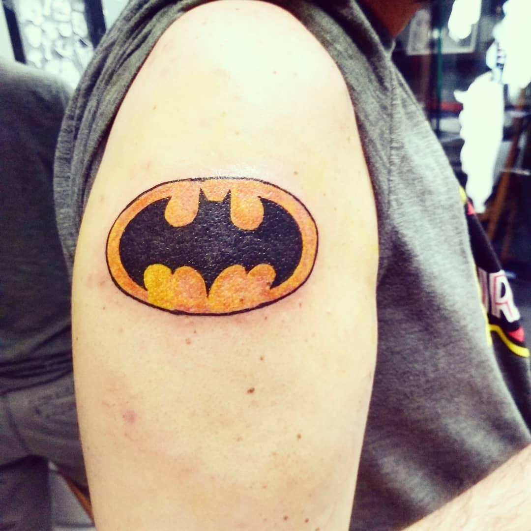 Retro Batman Tattoo Design