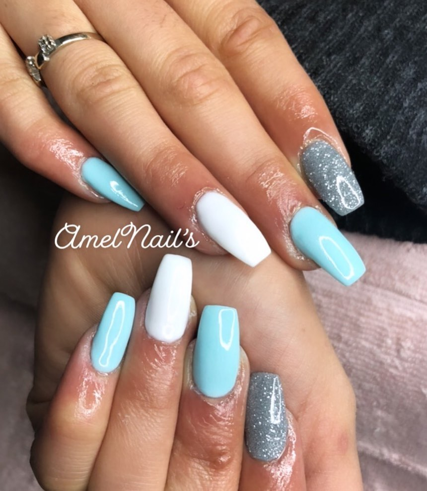 40 Trendy Turquoise Nails
