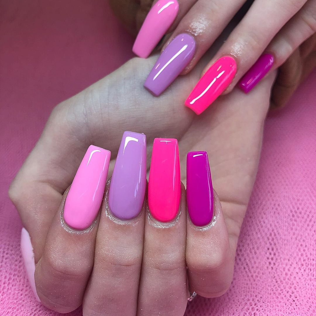 Candy coffin nail designs