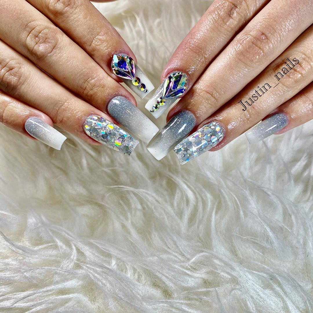 Nails with Diamonds Ideas