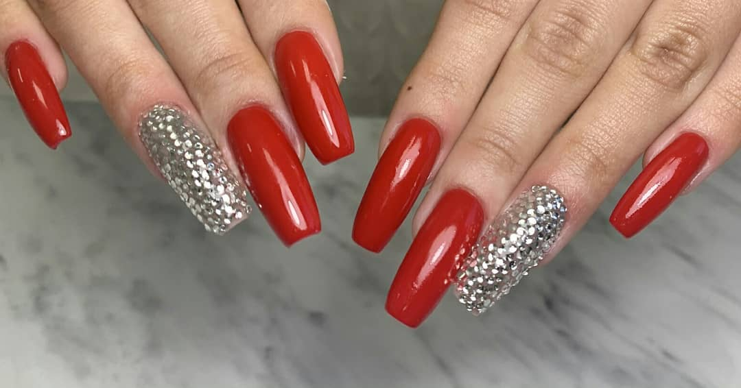 Nails with Diamonds - Best Designs