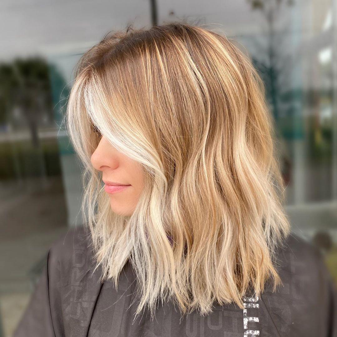 Lowlights for short blonde hair