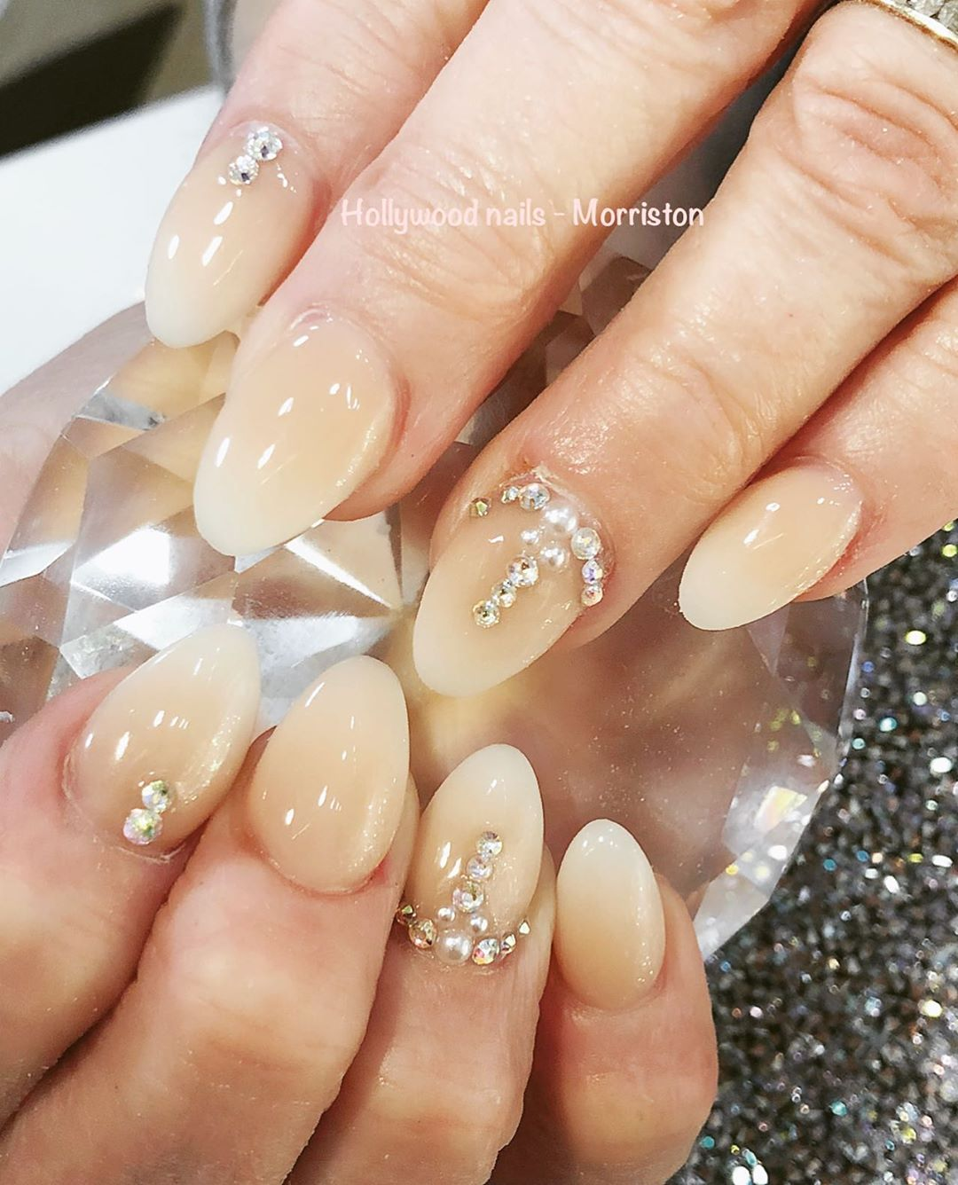 Nails with Diamonds - Best Short Nail Designs