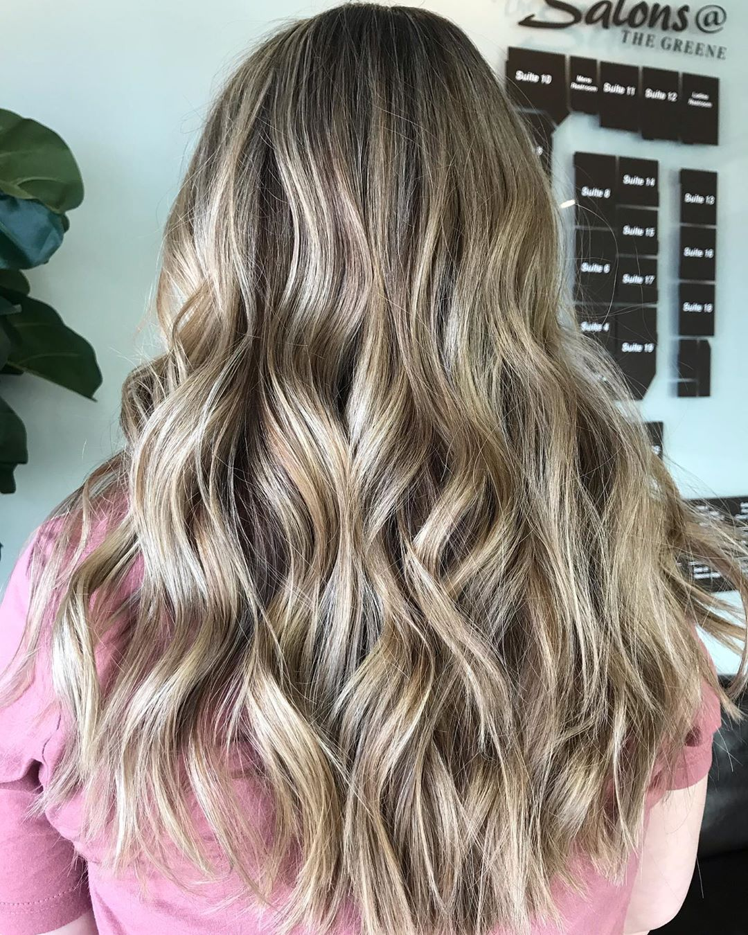 Wave blonde hair with brown lowlights added