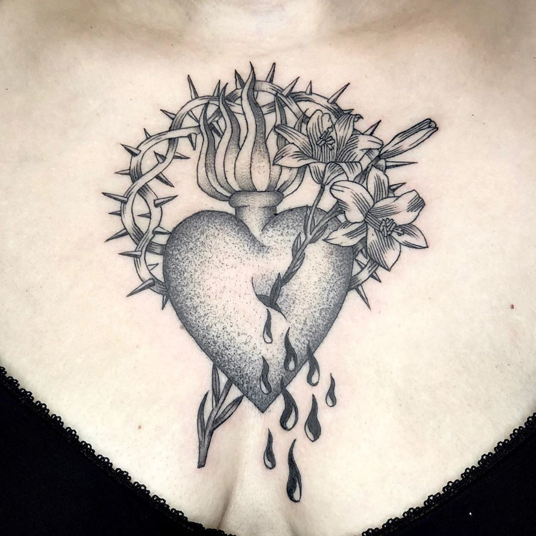 Sacred Heart Tattoo Designs