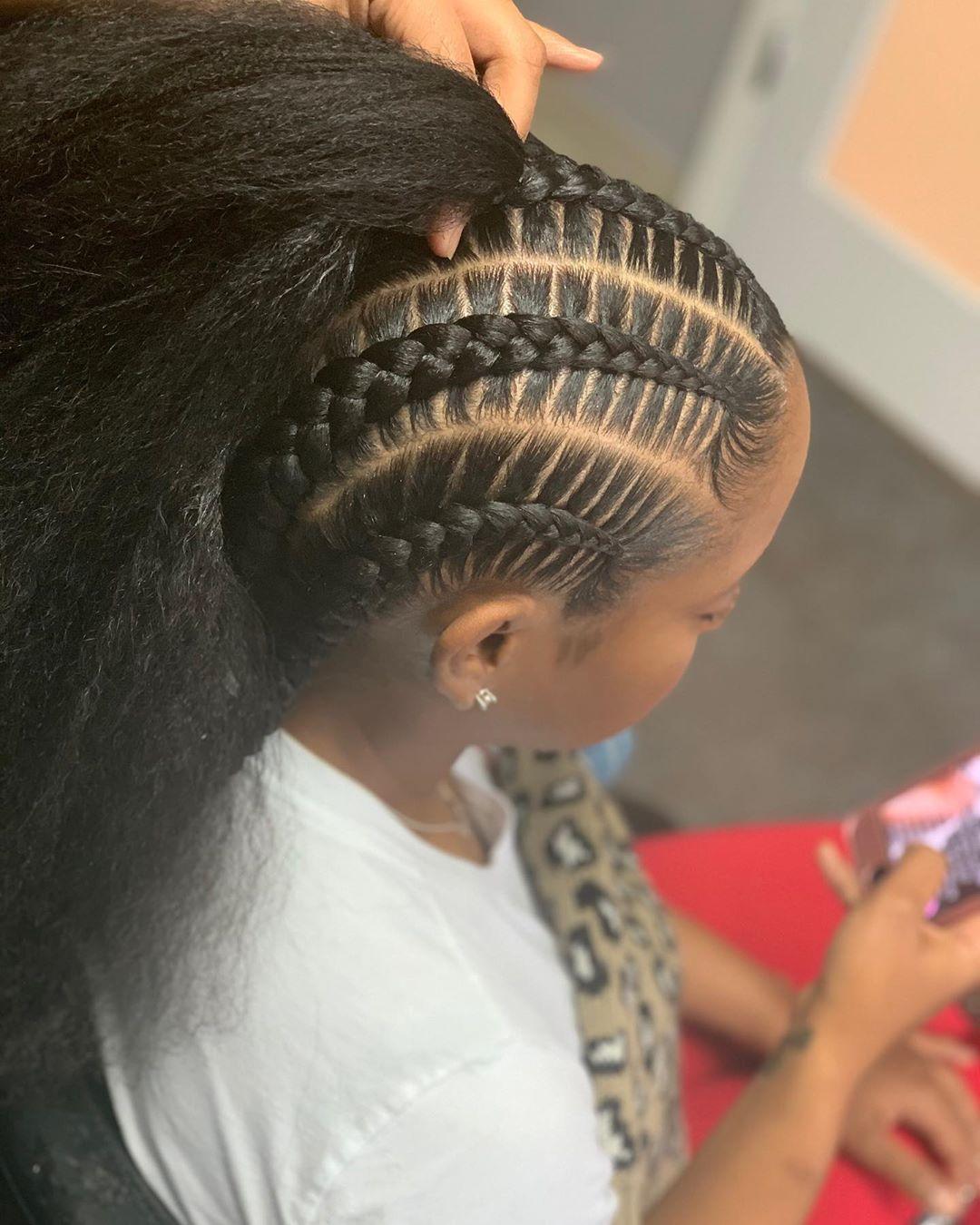 Stitch braids image and inspiration