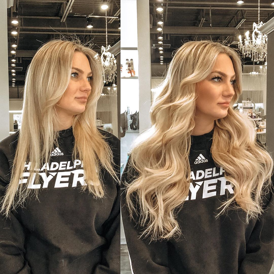 Add volume with lowlights for blonde hair