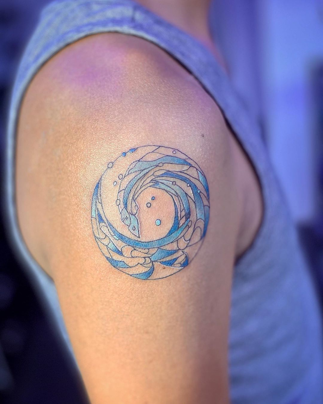 Wave tattoos