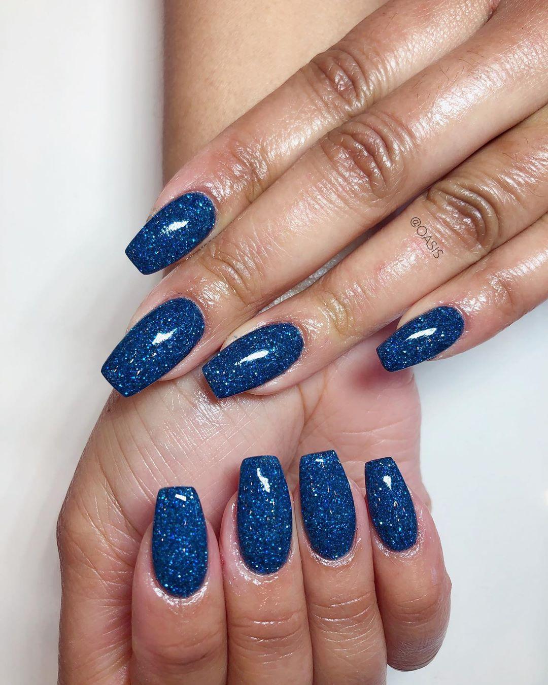 Ocean Blue Ombre Nails