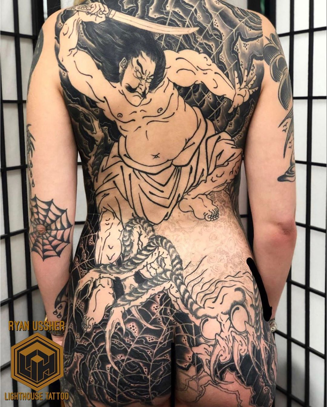 Full body Japanese Warrior Tattoo