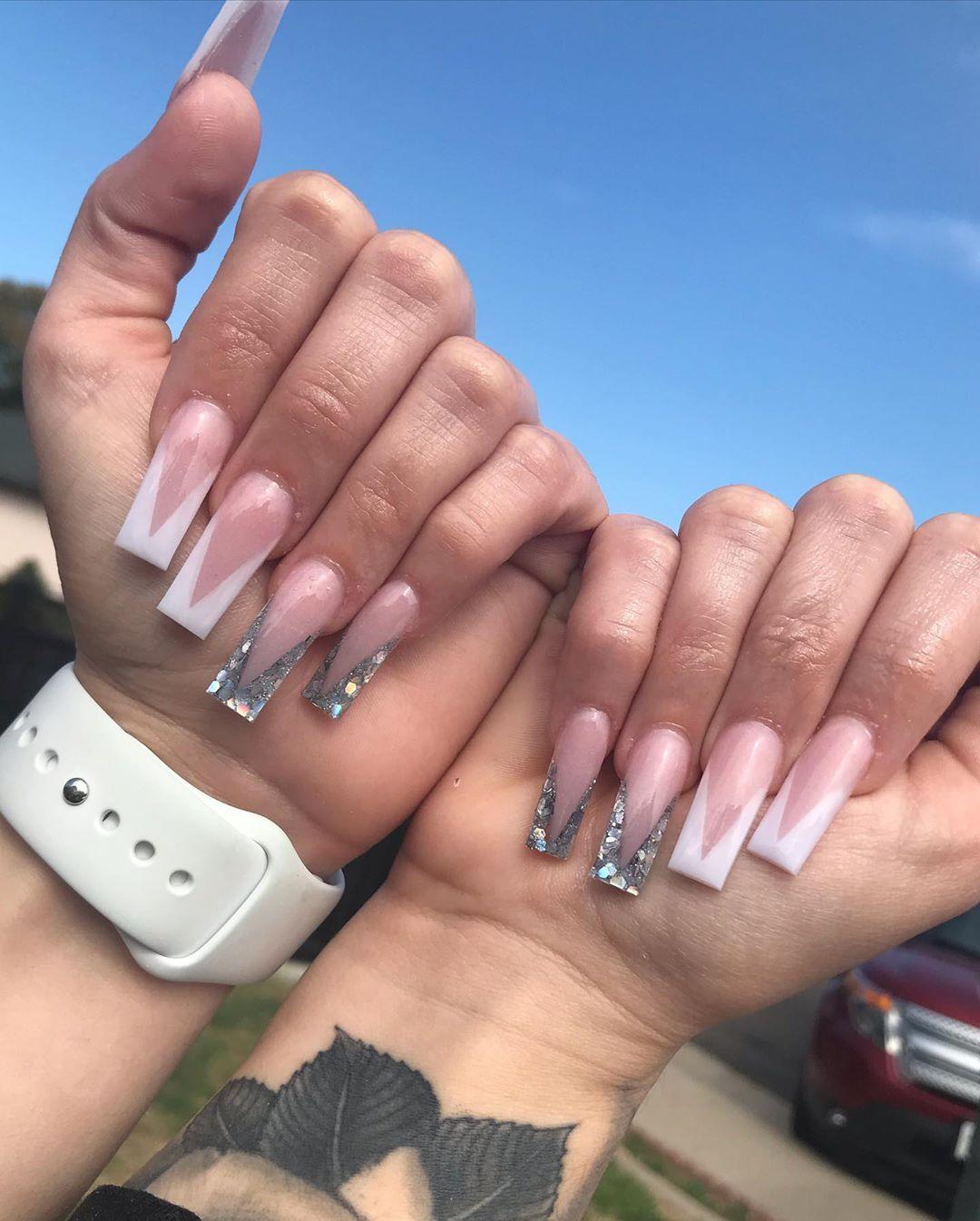 Stiletto vs. coffin nail designs