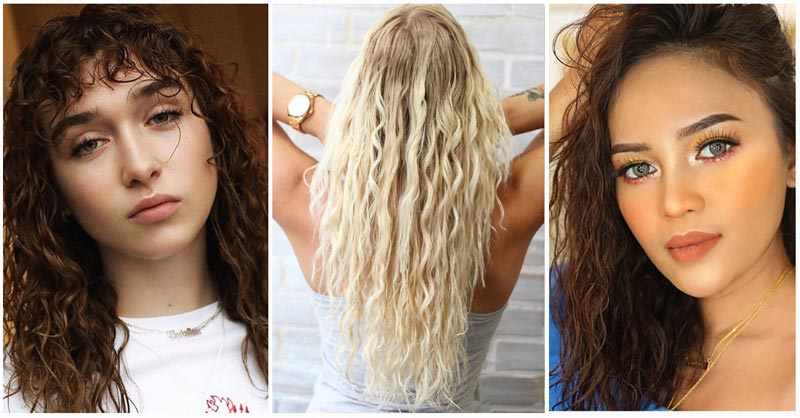 beach wave perm hair