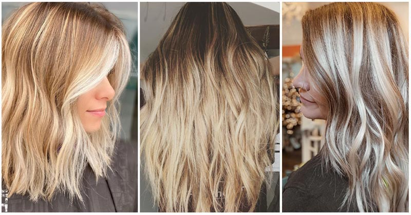 3 Blonde Hairstyles with Brown Lowlights