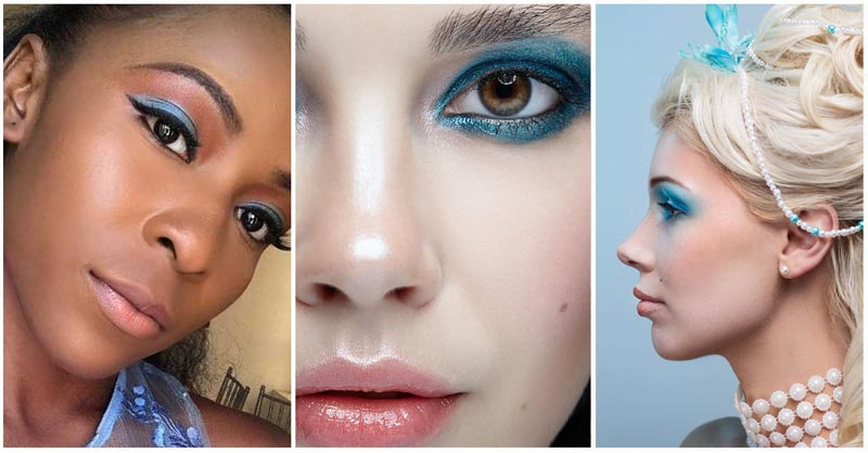 Blue eyeshadow looks on women