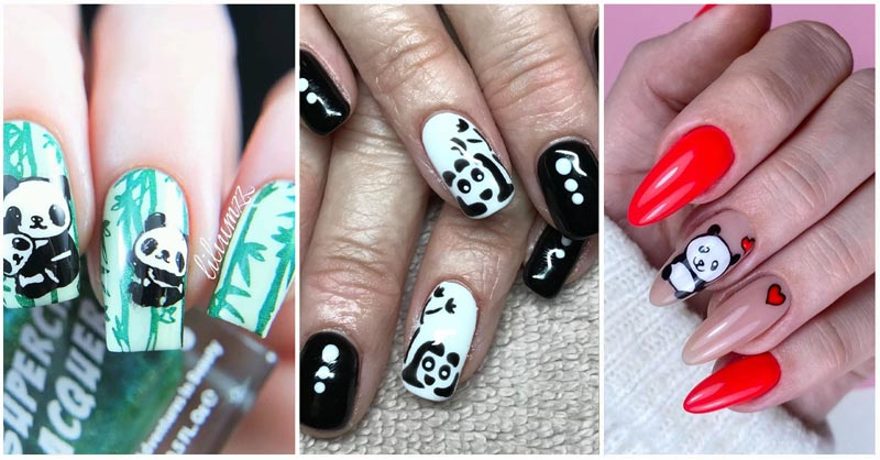 Updated 40 Lovely Panda Nail Designs August 2020