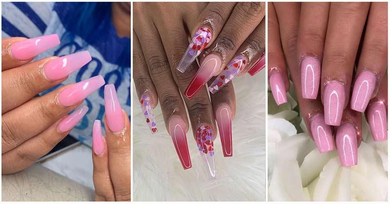 40+ Pink Acrylic Nail Ideas