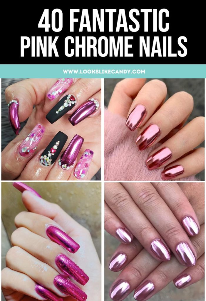 Roundup of Best Pink Chrome Nail Design Ideas