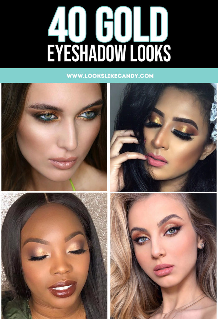 Gold eyeshadow is versatile enough to be worn during the day, and give you an unexpected flair on your night outs. Whether it's a full-on metallic glow on the lids or a swipe of subtle sheen, the golden hue will surely give you a glamorous statement. #makeup #eyeshadow #gold #goldeyeshadow