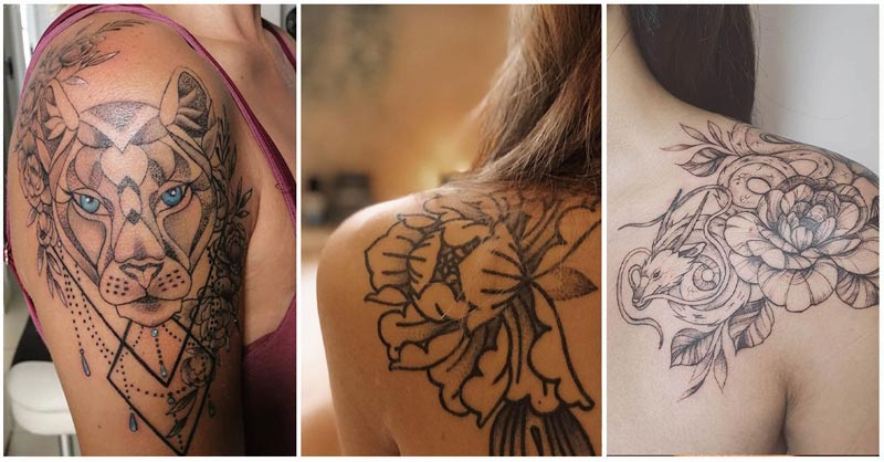 Shoulder Tattoos for Women - lots of ideas