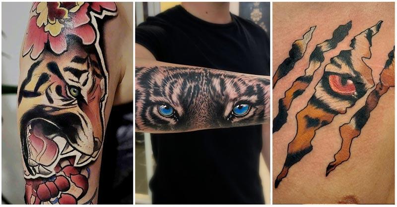 Traditional Tiger Eyes Tattoo Ideas