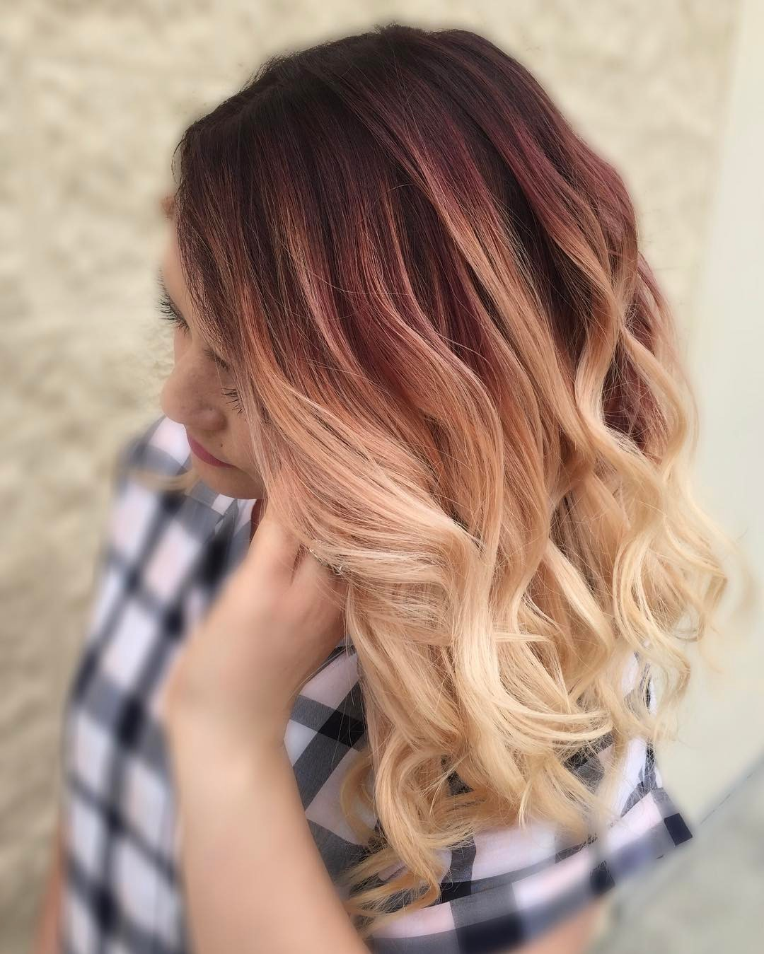 Deep Red to Golden Ends