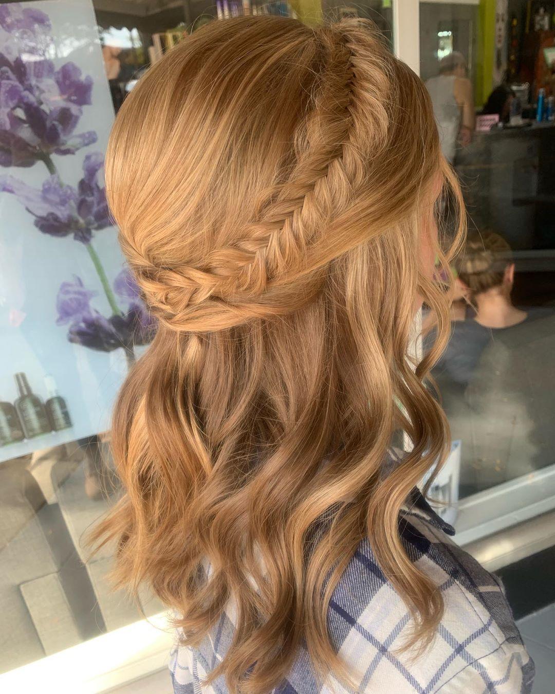 Halfback Crown Dutch Fishtail Braid Hairstyles