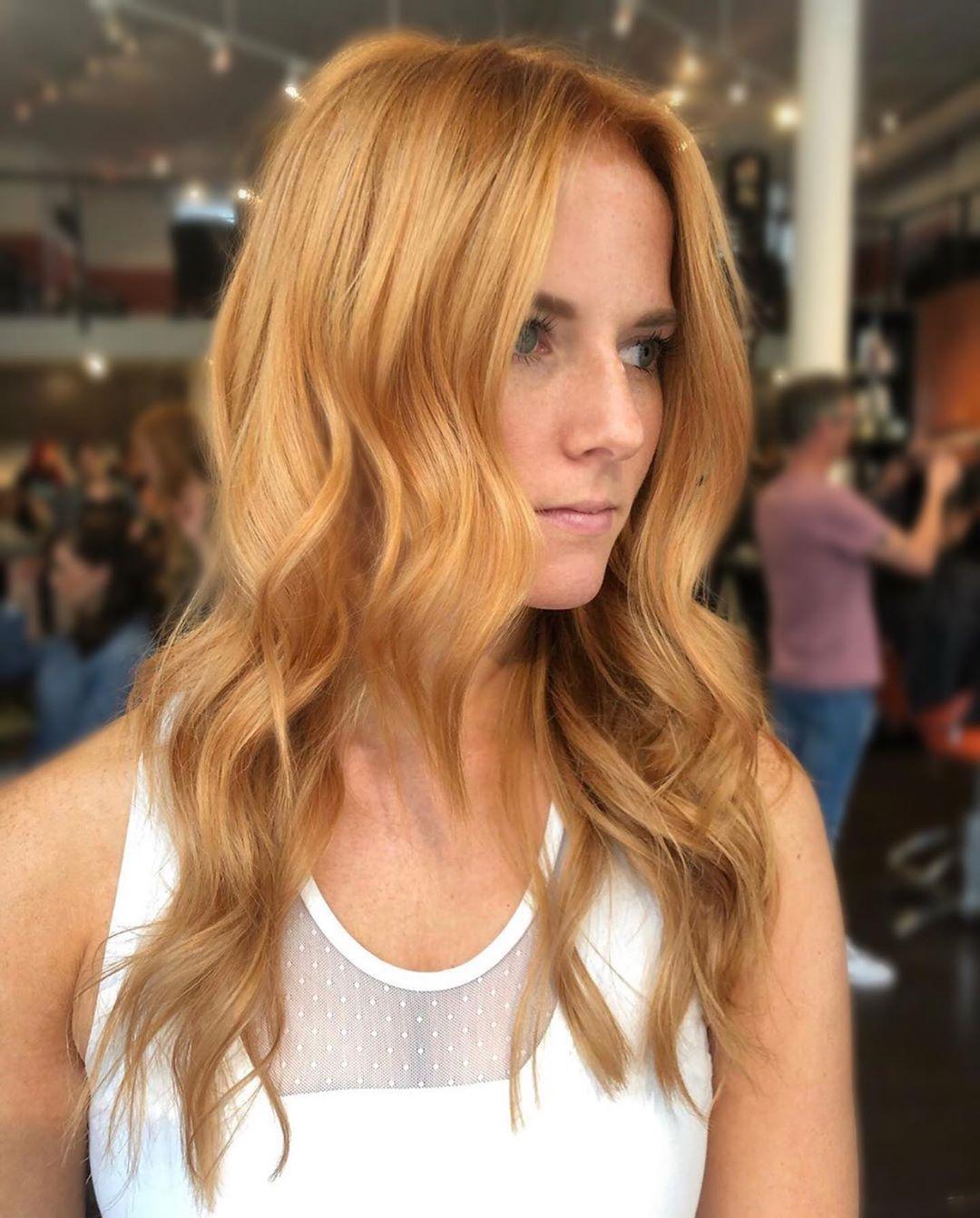 Golden Strawberry blonde highlights