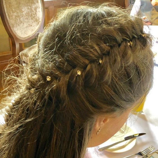 Bejeweled Dutch Fishtail Braid Hairstyles