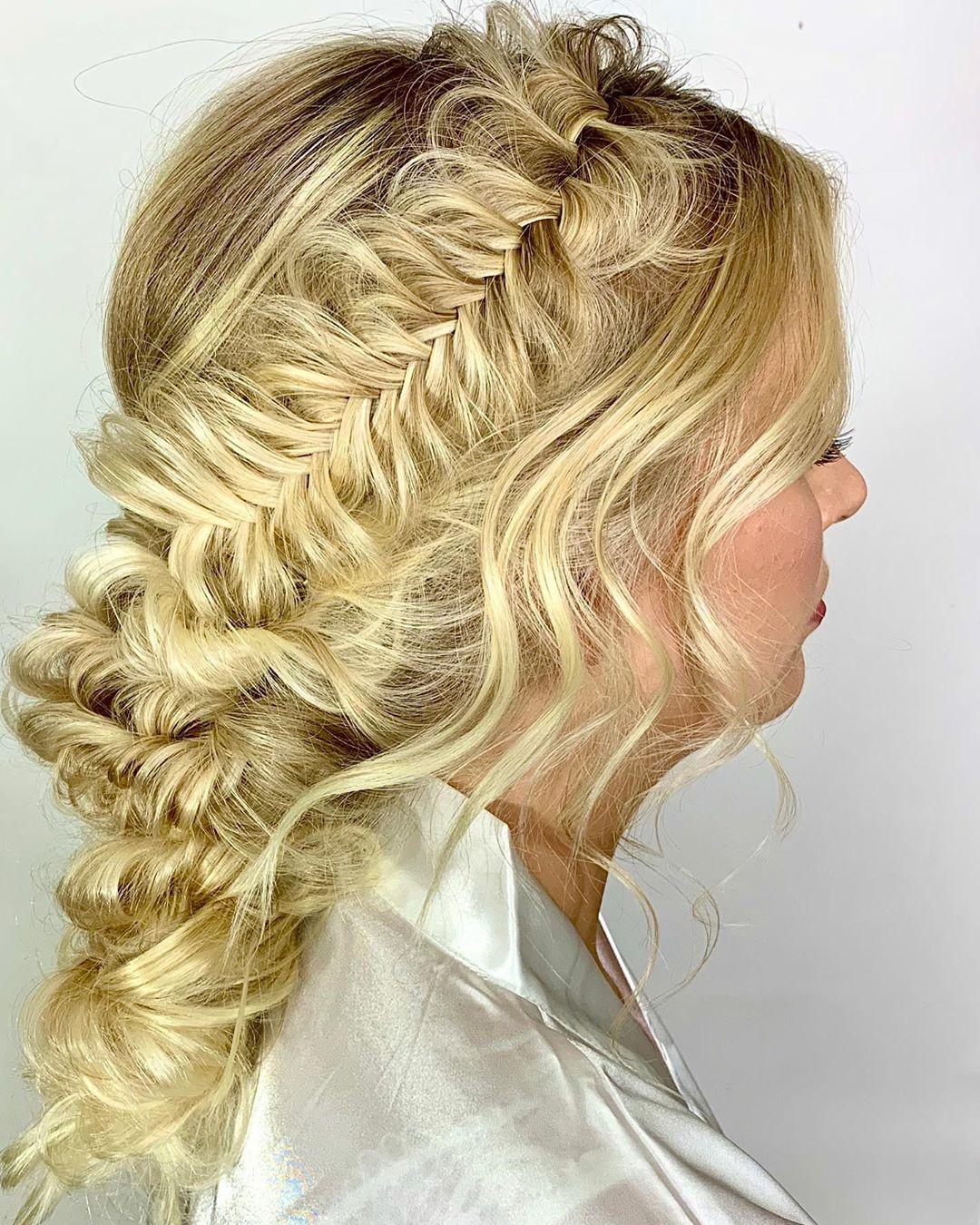Wedding Crown Fishtail Braid