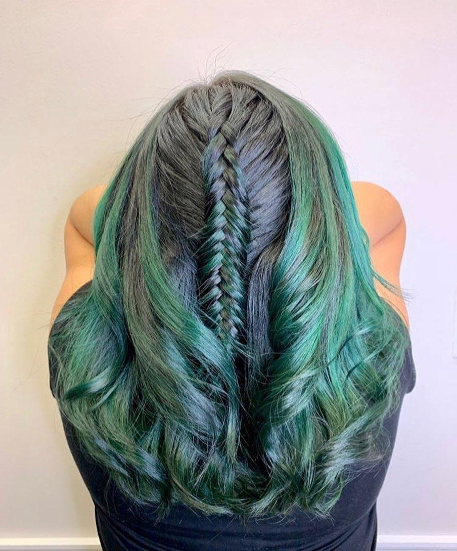 Mermaid Hair with Fishtail Braid
