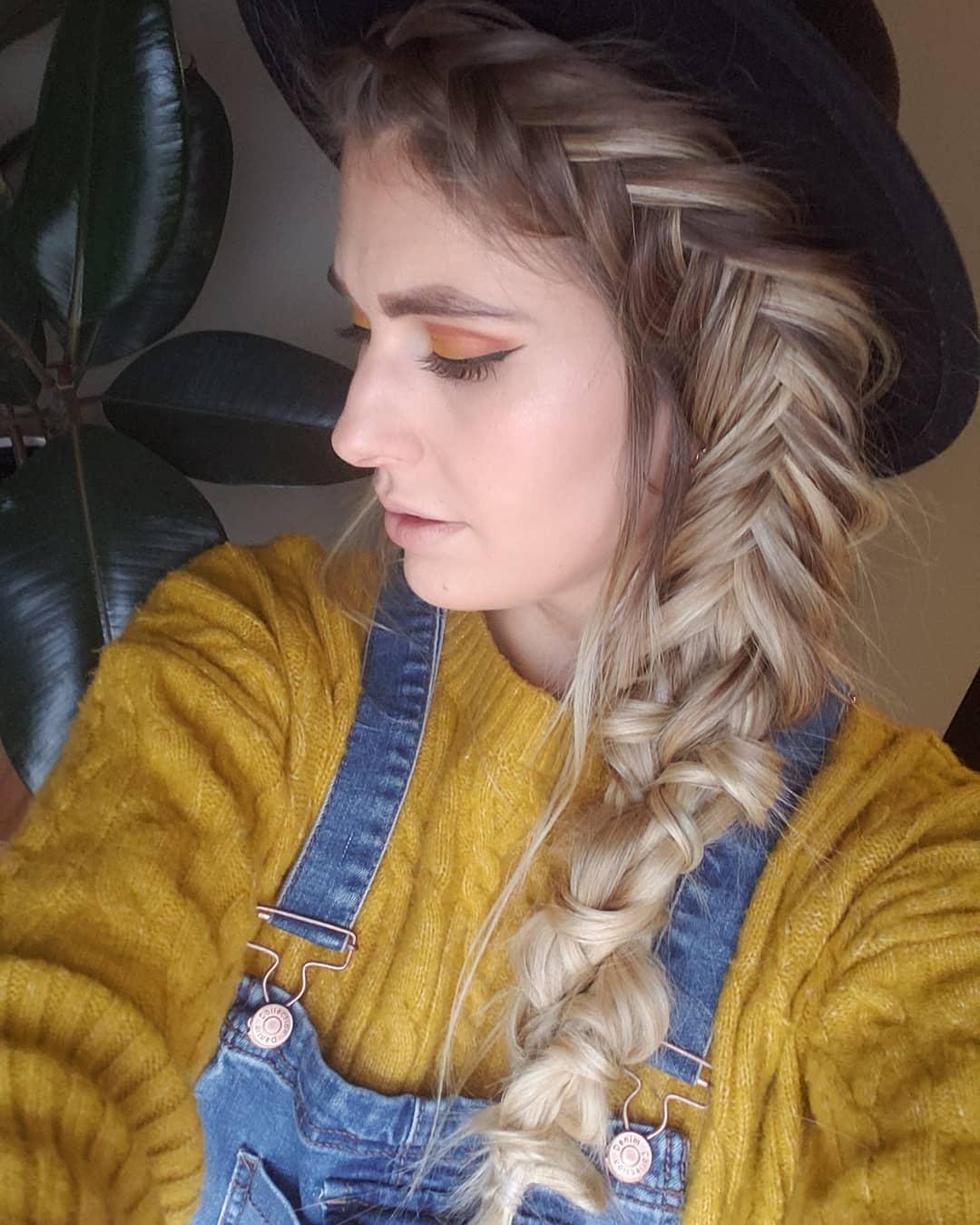 Boho Chic Dutch Fishtail Braid Hairstyles